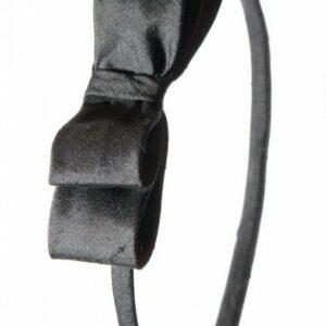 Hårbøjle med sort silkesløjfe
