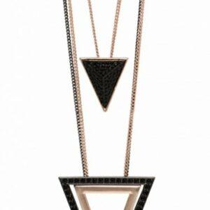 Halskæde trekanter - kobberfarvet